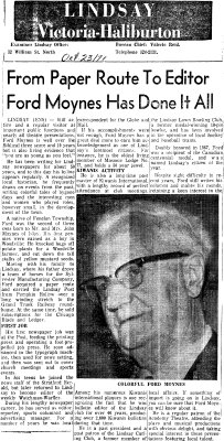 From Paper Route to Editor, Ford Moynes has done it all - 23 October 1971