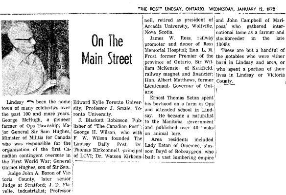 On the Main Street - 12 Jan 1972