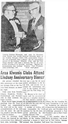 Area Kiwanis Clubs attend Lindsay Anniversary Dinner