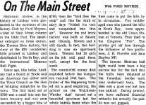 On the Main Street - 29 Aug 1972