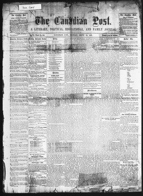 Canadian Post (Lindsay, ONT), 13 Sep 1861