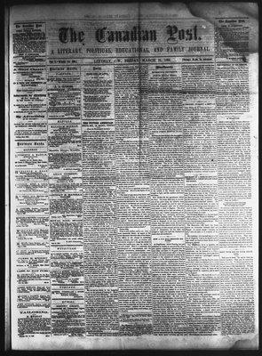 Canadian Post (Lindsay, ONT), 25 Mar 1864