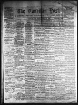 Canadian Post (Lindsay, ONT), 22 Apr 1864