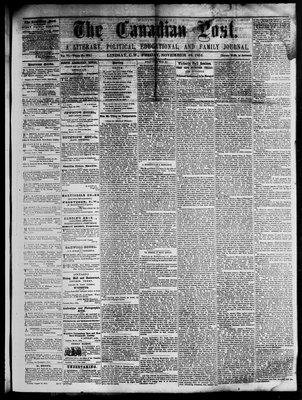 Canadian Post (Lindsay, ONT), 18 Nov 1864