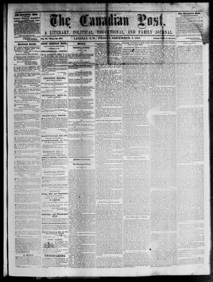 Canadian Post (Lindsay, ONT), 9 Dec 1864