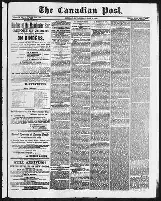 Canadian Post (Lindsay, ONT), 8 May 1885