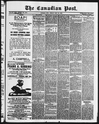Canadian Post (Lindsay, ONT), 22 May 1885