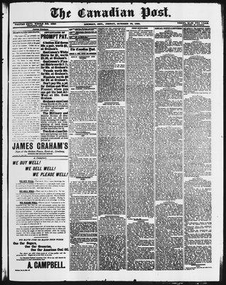 Canadian Post (Lindsay, ONT), 23 Oct 1885