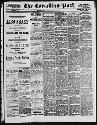 Canadian Post (Lindsay, ONT), 12 Aug 1887