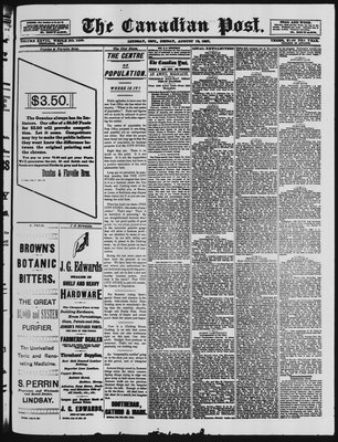 Canadian Post (Lindsay, ONT), 19 Aug 1887