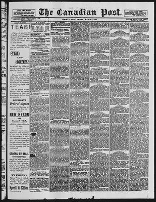 Canadian Post (Lindsay, ONT), 2 Mar 1888