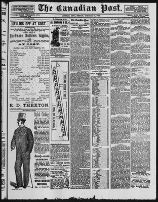Canadian Post (Lindsay, ONT), 19 Oct 1888