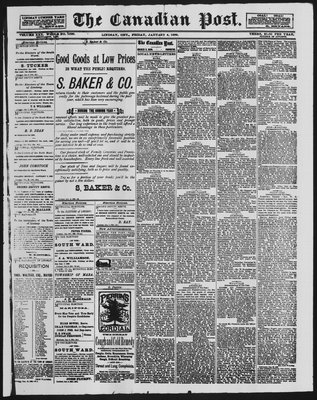 Canadian Post (Lindsay, ONT), 4 Jan 1889