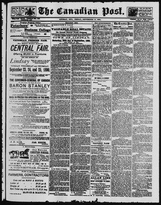 Canadian Post (Lindsay, ONT), 12 Sep 1890