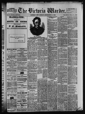 Victoria Warder (Lindsay, ONT), 24 Dec 1886
