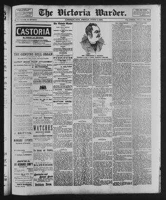 Victoria Warder (Lindsay, ONT), 8 Jun 1888