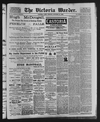 Victoria Warder (Lindsay, ONT), 26 Oct 1888