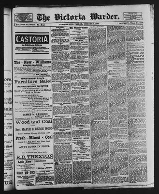 Victoria Warder (Lindsay, ONT), 4 Oct 1889