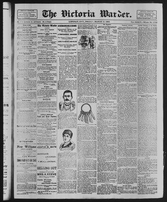 Victoria Warder (Lindsay, ONT), 21 Mar 1890