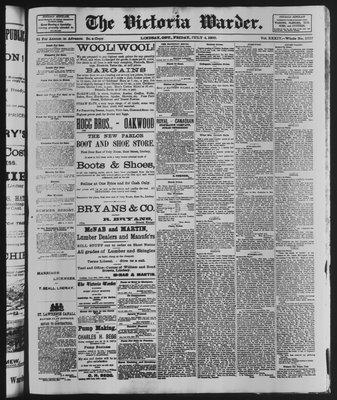 Victoria Warder (Lindsay, ONT), 4 Jul 1890