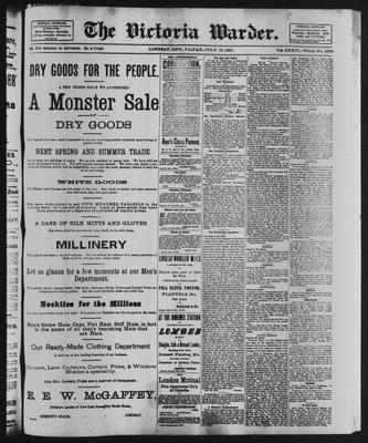 Victoria Warder (Lindsay, ONT), 10 Jul 1891