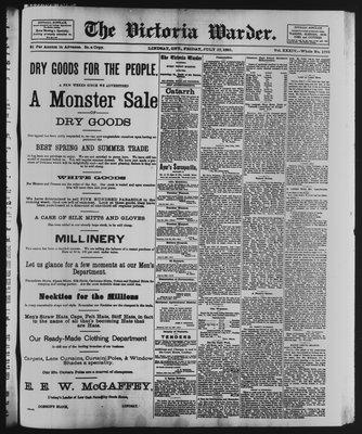Victoria Warder (Lindsay, ONT), 17 Jul 1891