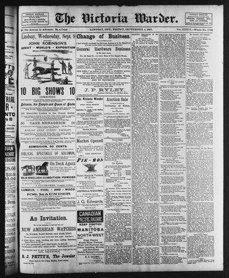 Victoria Warder (Lindsay, ONT), 4 Sep 1891