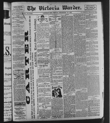 Victoria Warder (Lindsay, ONT), 29 Dec 1893