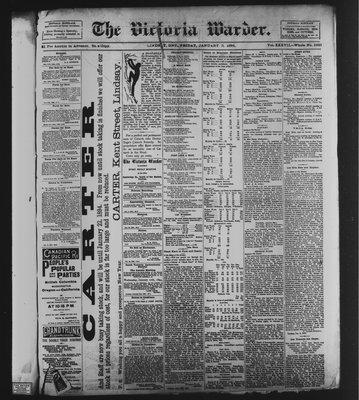 Victoria Warder (Lindsay, ONT), 5 Jan 1894