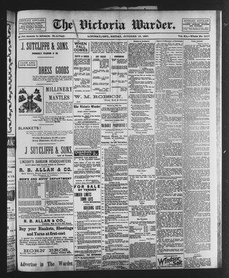 Victoria Warder (Lindsay, ONT), 15 Oct 1897