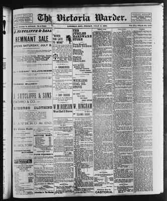 Victoria Warder (Lindsay, ONT), 8 Jul 1898