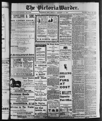 Victoria Warder (Lindsay, ONT), 13 Jan 1899