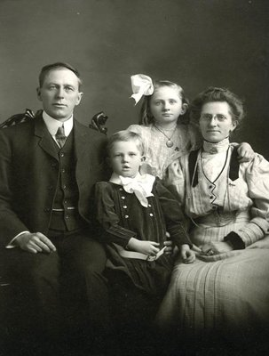 Dr.George Wesley Hall and family