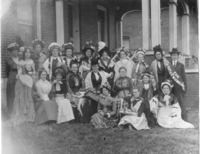 Suffragettes Meeting at Hall Home
