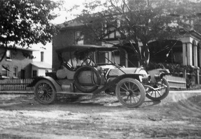 1915 Locomobile in Front of Hall Home