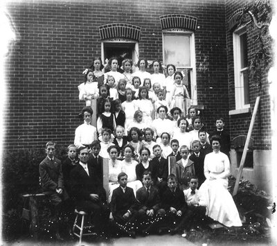 Class Photo with Dr. George C.R. Hall
