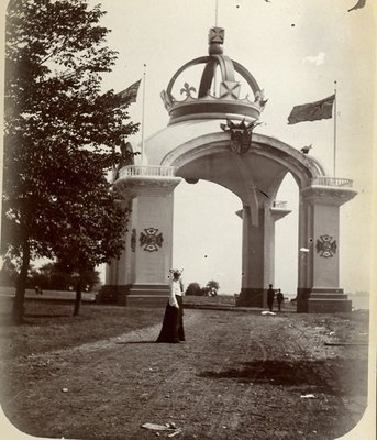 Mrs. George Wesley Hall at the Canadian National Exhibition