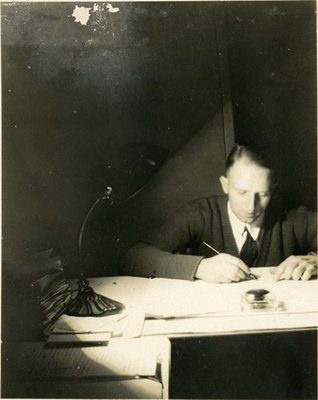Dr. George C.R. Hall Studying