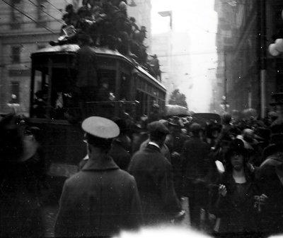 Streetcar on Armistice Day in Toronto