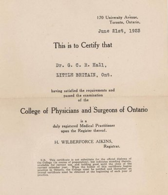 College of Physicians and Surgeons of Ontario