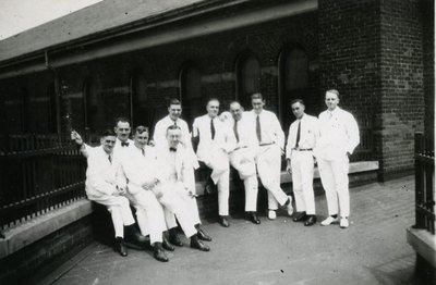 Group of Men at Hamilton General Hospital