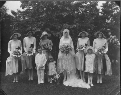 Mrs. George C.R. Hall and Bridesmaids