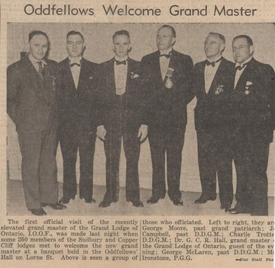 Oddfellows Welcome Grand Master