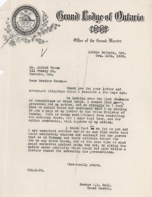 Letter to Fellow Odd Fellows