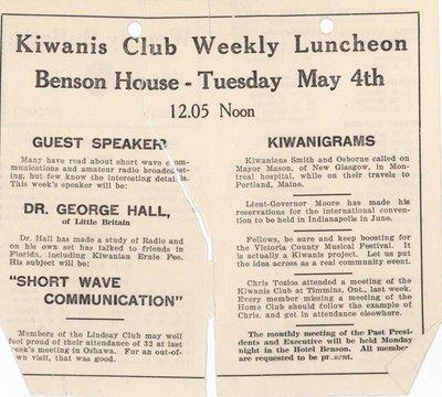 Guest Speaker at Kiwanis