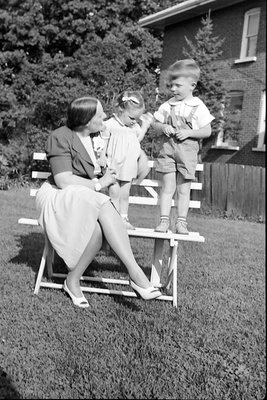 Mrs. George C.R. Hall and Two Children