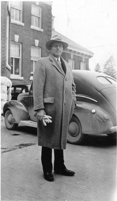 Dr. George C.R. Hall in Overcoat