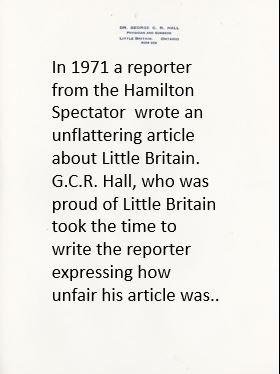 Letter to Hamilton Spectator