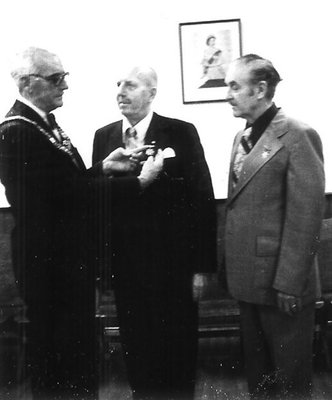 Dr. George C.R. Hall Receiving Medal