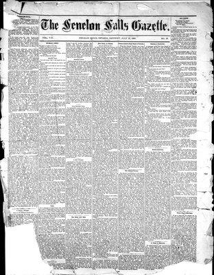 Fenelon Falls Gazette, 10 Jul 1880